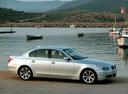 Фото авто BMW 5 серия E60/E61, ракурс: 270 цвет: серебряный