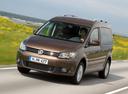 Фото авто Volkswagen Caddy 3 поколение [рестайлинг], ракурс: 45 цвет: коричневый