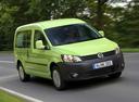 Фото авто Volkswagen Caddy 3 поколение [рестайлинг], ракурс: 315 цвет: зеленый