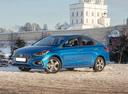 Фото авто Hyundai Solaris 2 поколение, ракурс: 45 цвет: синий