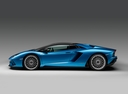Фото авто Lamborghini Aventador 1 поколение [рестайлинг], ракурс: 90 цвет: синий