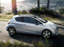Фото авто Peugeot 208 1 поколение, ракурс: 270 цвет: серебряный