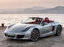 Фото авто Porsche Boxster 981, ракурс: 45 цвет: серебряный
