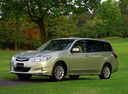 Фото авто Subaru Exiga 1 поколение, ракурс: 45 цвет: бежевый