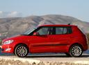 Фото авто Skoda Fabia 5J [рестайлинг], ракурс: 90 цвет: красный