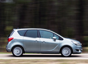 Фото авто Opel Meriva 2 поколение [рестайлинг], ракурс: 270 цвет: серебряный