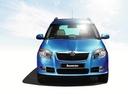 Фото авто Skoda Roomster 1 поколение,  цвет: голубой
