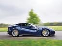 Фото авто Ferrari F12berlinetta 1 поколение, ракурс: 270 цвет: синий