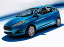 Фото авто Ford Fiesta 6 поколение [рестайлинг], ракурс: 45 - рендер цвет: голубой