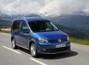 Фото авто Volkswagen Caddy 3 поколение [рестайлинг], ракурс: 315 цвет: синий