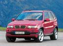 Фото авто BMW X5 E53, ракурс: 45 цвет: вишневый