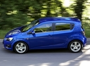 Фото авто Chevrolet Aveo T300, ракурс: 90 цвет: синий