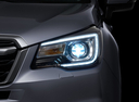 Фото авто Subaru Forester 4 поколение [рестайлинг], ракурс: передние фары цвет: синий
