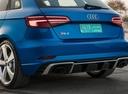 Фото авто Audi RS 3 8VA [рестайлинг], ракурс: задняя часть цвет: синий