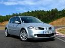 Фото авто Renault Megane 2 поколение [рестайлинг], ракурс: 315 цвет: серебряный