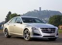 Фото авто Cadillac CTS 3 поколение, ракурс: 315 цвет: серебряный
