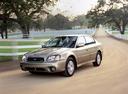 Фото авто Subaru Outback 2 поколение, ракурс: 45 цвет: бежевый