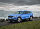 Фото авто Skoda Kodiaq 1 поколение, ракурс: 45 цвет: голубой