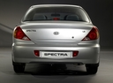 Фото авто Kia Spectra 1 поколение [рестайлинг], ракурс: 180 цвет: серебряный