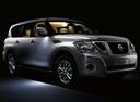 Фото авто Nissan Patrol Y62, ракурс: 315 цвет: серебряный