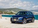 Фото авто Audi Q5 2 поколение, ракурс: 45 цвет: синий
