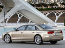 Фото авто Audi A8 D4/4H, ракурс: 135 цвет: сафари