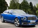 Фото авто Bentley Mulsanne 2 поколение [рестайлинг], ракурс: 315 цвет: синий