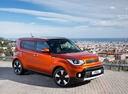 Фото авто Kia Soul 2 поколение [рестайлинг], ракурс: 315 цвет: оранжевый