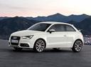 Фото авто Audi A1 8X, ракурс: 45 цвет: белый