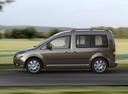 Фото авто Volkswagen Caddy 3 поколение [рестайлинг], ракурс: 90 цвет: коричневый