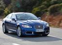 Фото авто Jaguar XF X250, ракурс: 315 цвет: синий