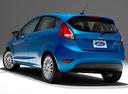 Фото авто Ford Fiesta 6 поколение [рестайлинг], ракурс: 135 цвет: голубой