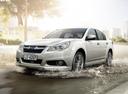 Фото авто Subaru Legacy 5 поколение [рестайлинг], ракурс: 45 цвет: белый