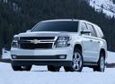 Фото авто Chevrolet Tahoe 4 поколение, ракурс: 45 цвет: серебряный