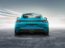 Фото авто Porsche Cayman 982, ракурс: 180 цвет: аквамарин