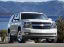Фото авто Chevrolet Tahoe 4 поколение, ракурс: 315 цвет: белый