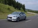 Фото авто Nissan Micra K14, ракурс: 45 цвет: серебряный