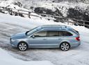 Фото авто Skoda Superb 2 поколение, ракурс: 90 цвет: синий