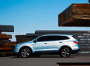Фото авто Hyundai Santa Fe DM, ракурс: 90 цвет: голубой