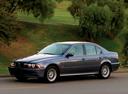 Фото авто BMW 5 серия E39 [рестайлинг], ракурс: 45 цвет: серый
