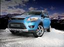 Фото авто Ford Kuga 1 поколение, ракурс: 45 цвет: голубой