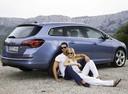 Фото авто Opel Astra J, ракурс: 225 цвет: голубой