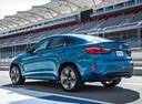 Фото авто BMW X6 M F86, ракурс: 135 цвет: голубой