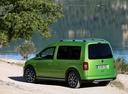 Фото авто Volkswagen Caddy 3 поколение [рестайлинг], ракурс: 135 цвет: зеленый