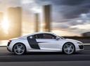 Фото авто Audi R8 1 поколение [рестайлинг], ракурс: 270 цвет: серебряный