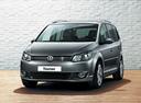 Фото авто Volkswagen Touran 1 поколение [2-й рестайлинг], ракурс: 45 цвет: серый