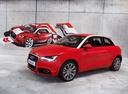 Фото авто Audi A1 8X, ракурс: 45 цвет: красный