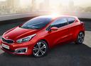 Фото авто Kia Cee'd 2 поколение [рестайлинг], ракурс: 45 цвет: красный