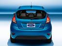 Фото авто Ford Fiesta 6 поколение [рестайлинг], ракурс: 180 - рендер цвет: голубой
