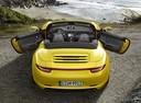 Фото авто Porsche 911 991, ракурс: 180 цвет: желтый